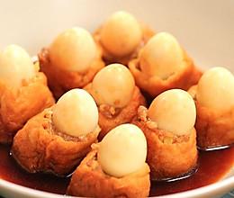 油豆腐鹌鹑蛋酿肉的做法