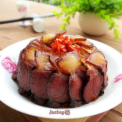 湘味下饭菜--盐菜蒸腊肉