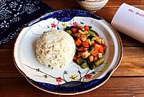 #今天吃什么#酱爆鸡丁藜麦盖饭的做法