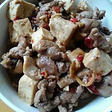 豆腐炒鸡腿