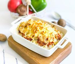 #肉食者联盟#番茄肉酱芝士焗饭的做法
