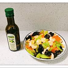 橄榄油虾仁炒三宝
