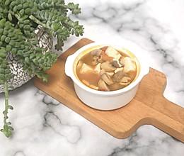 #做道懒人菜,轻松享假期#白蘑菇豆腐汤的做法