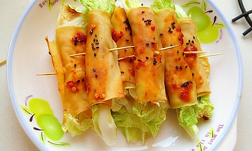 烤豆腐卷的做法