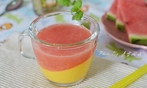 芒果西瓜双色果汁#夏日时光#的做法