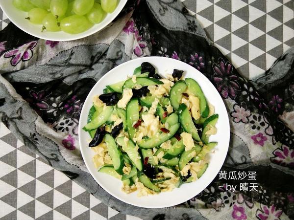 #花10分钟,做一道菜!#黄瓜炒蛋~的做法