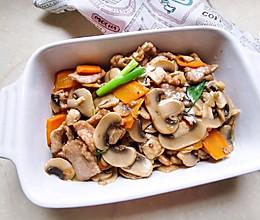 口蘑炒肉片的做法
