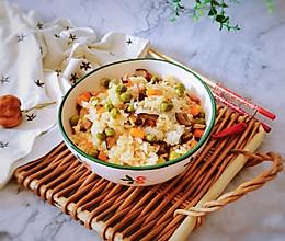 #全电厨王料理挑战赛热力开战!#豌豆糯米饭的做法
