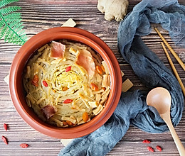 火腿瑶柱炖大白菜#百菜不如白菜#的做法