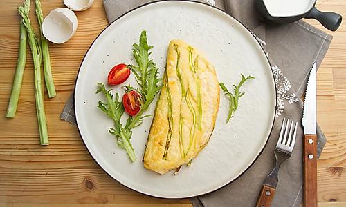 芦笋舒芙蕾煎蛋饼的做法