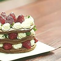 可可草莓裸蛋糕【微体兔菜谱】的做法图解15