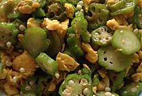秋葵炒土鸡蛋的做法