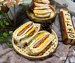 牛排鸡蛋火腿三明治~三明治也要吃得土豪的做法