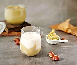 """#快手又营养,我家的冬日必备菜品#温暖冬季的""""栗泥牛奶饮""""的做法"""