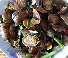 姜葱花蛤的做法