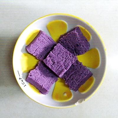 快手糕点『紫薯牛奶糕』