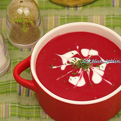 刮油顺心汤 红菜浓汤