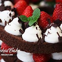 新红与黛绿-草莓巧克力裸蛋糕的做法图解12