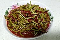 酒糟炒蕨菜的做法