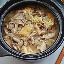 白菜香菇鸡腿汤