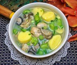 牡蛎蚕豆豆腐汤的做法