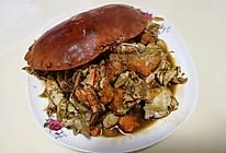炒面包蟹的做法