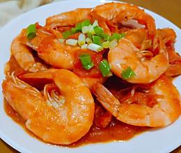 年夜饭~番茄油爆虾的做法