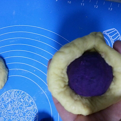 紫薯馅南瓜面包的做法 步骤7