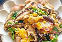 香菇鸡蛋韭菜鸡肉杂炒