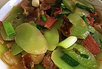 莴苣炒腊肉的做法