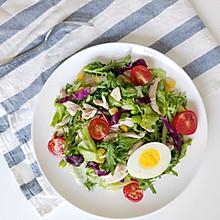 #花10分钟,做一道菜!# 低卡鸡丝沙拉