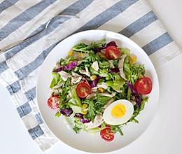 #花10分钟,做一道菜!# 低卡鸡丝沙拉的做法