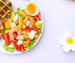 #今天吃什么#香橙虾仁沙拉的做法