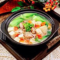 #憋在家里吃什么#金针菇豆腐鱿鱼煲的做法图解16