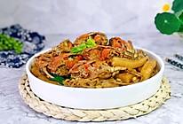 #憋在家里吃什么#蟹炒年糕的做法
