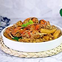 #憋在家里吃什么#蟹炒年糕