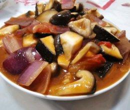 开胃菜 家常菜 西红柿洋葱炒香菇
