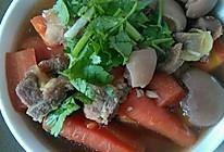 山药胡萝卜羊肉汤的做法