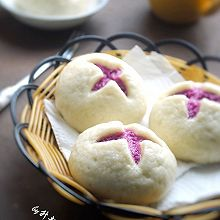 花开紫薯馒头#黑人牙膏一招制胜#