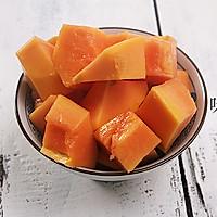 木瓜炖牛奶的做法图解2