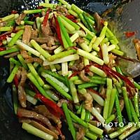 蒜苔肉丝的做法图解8