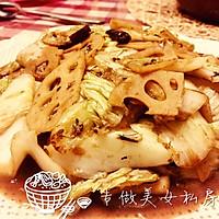 简单好吃的醋溜藕白菜的做法图解7