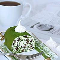 #柏翠辅食节_烘焙零食#抹茶蜜豆毛巾卷的做法图解26