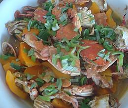 南瓜炖蟹子 的做法
