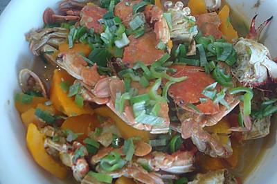 南瓜炖蟹子