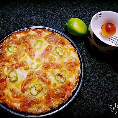 零失败龙利鱼腊味海鲜披萨