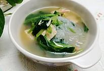 #夏日消暑,非它莫属#豆腐粉丝菠菜汤的做法