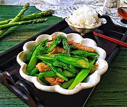 肉丝炒芦笋的做法
