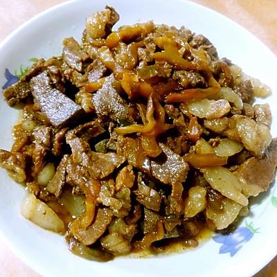榨菜炒猪肝猪肉--乌江榨菜