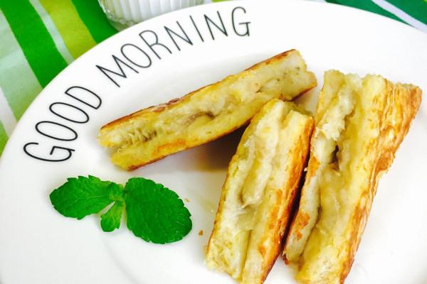 香蕉夹心三明治